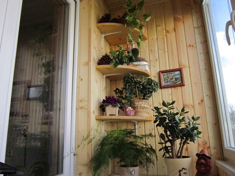 Как благоустроить балкон своими руками фото